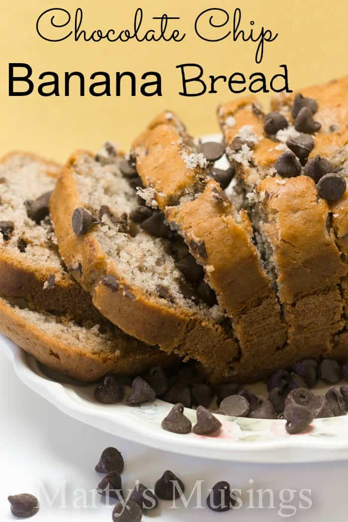 Chocolate Chip Banana Bread from Marty's Musings