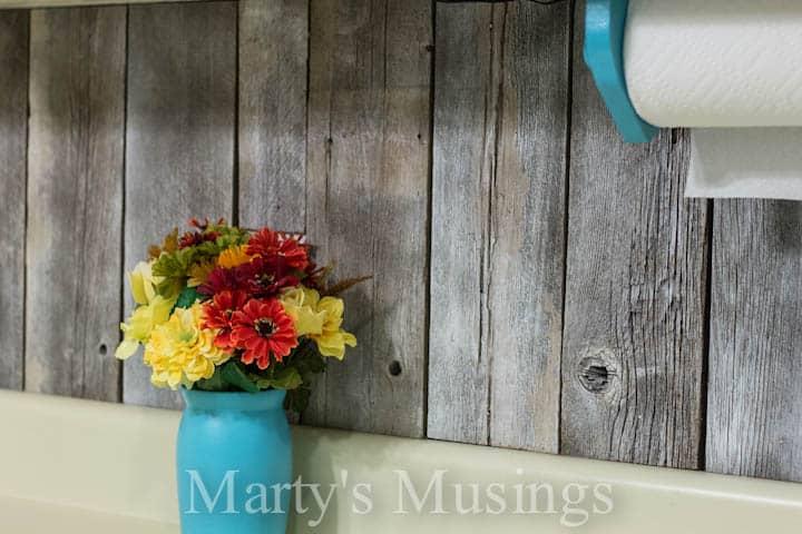 Fence Board Backsplash from Marty's Musings