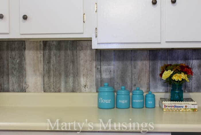 Fence Board Backsplash from Marty's Musings-1