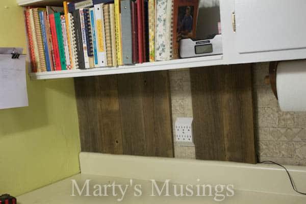 Fence Board Backsplash From Martyu0027s Musings