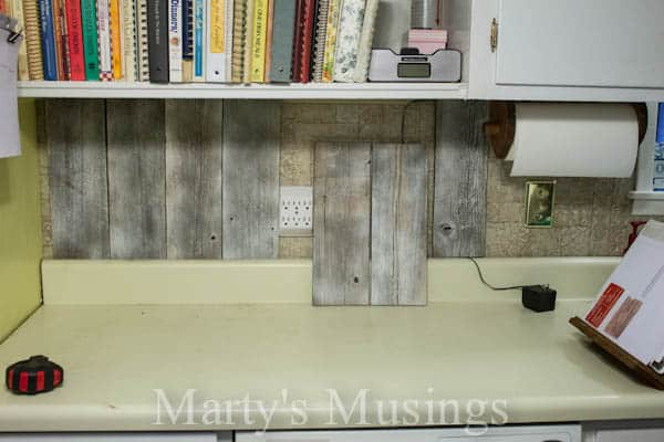 Fence Board Backsplash from Marty's Musings-5