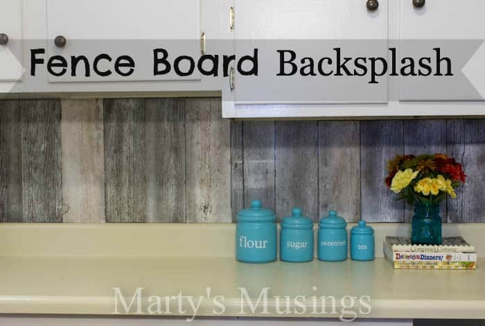 Fence Board Backsplash from Marty's Musings