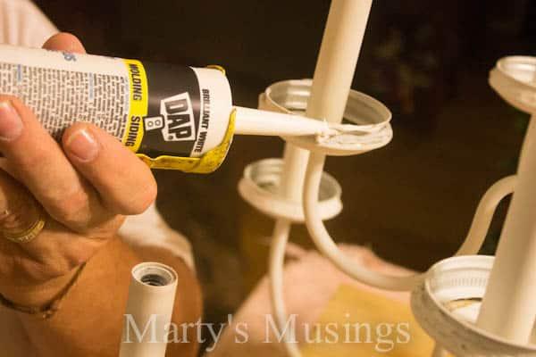 Mason Jar Chandelier by Marty's Musings-10