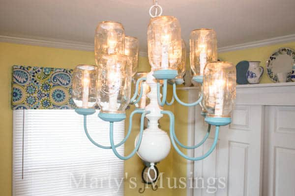 Mason Jar Chandelier by Marty's Musings