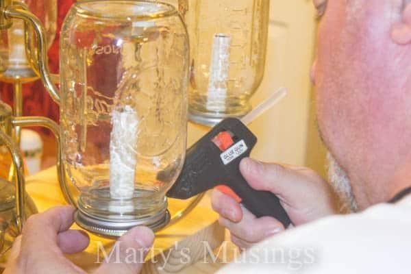 Mason Jar Chandelier by Marty's Musings-5