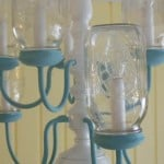 Mason Jar Chandelier from Marty's Musings