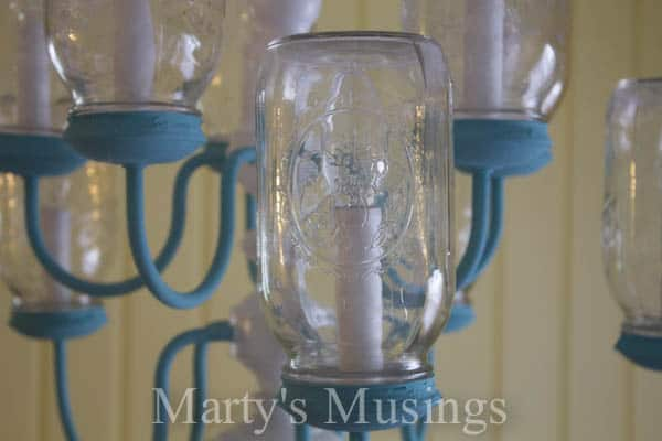 Mason Jar Chandelier from Marty's Musings-3