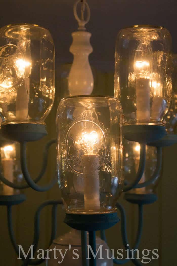 Diy mason jar chandelier step by step instructions mason jar chandelier from martys musings 4 aloadofball Images