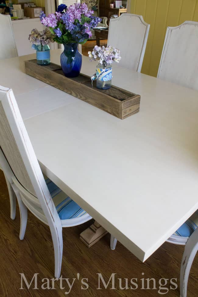 From drab to fab! Painted Kitchen Table from Marty's Musings