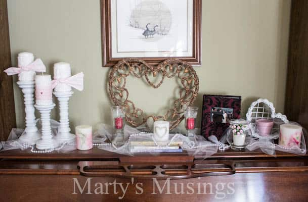 Valentine Decor from Marty's Musings