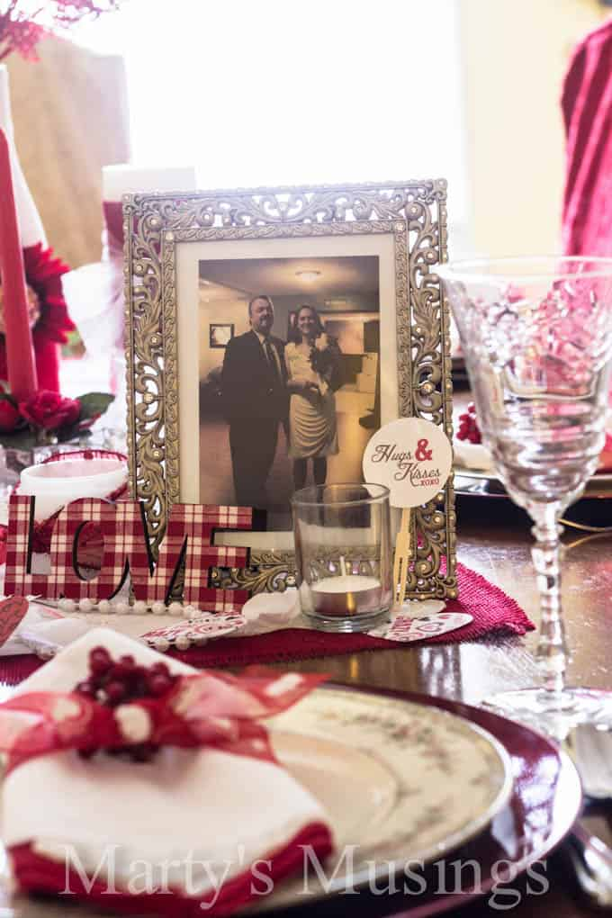 Valentine Tablescape from Marty's Musings