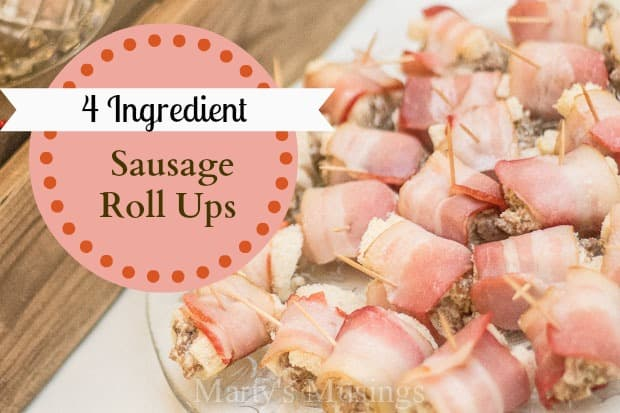 4 Ingredient Sausage Rollups from Marty's Musings