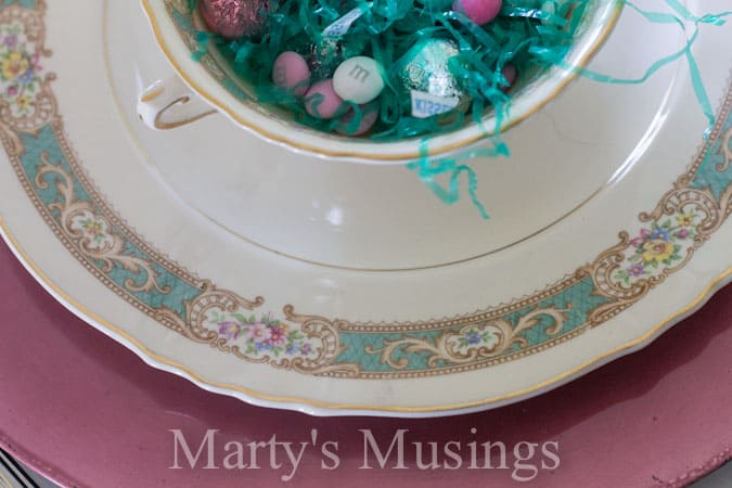 Easter Tablescape from Marty's Musings
