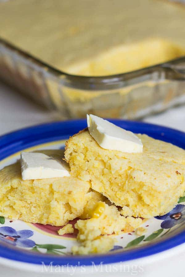 This easy Jiffy Corn Bread with creamed corn begins with a Jiffy box mix and is moist and delicious! It's the PERFECT bread everyone will rave about!