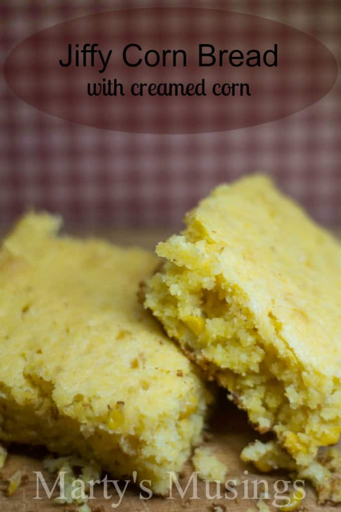 Jiffy Corn Bread with Creamed Corn from Marty's Musings