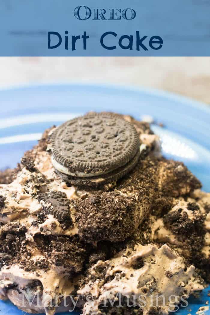 Oreo Dirt Cake With Vanilla And Chocolate Pudding