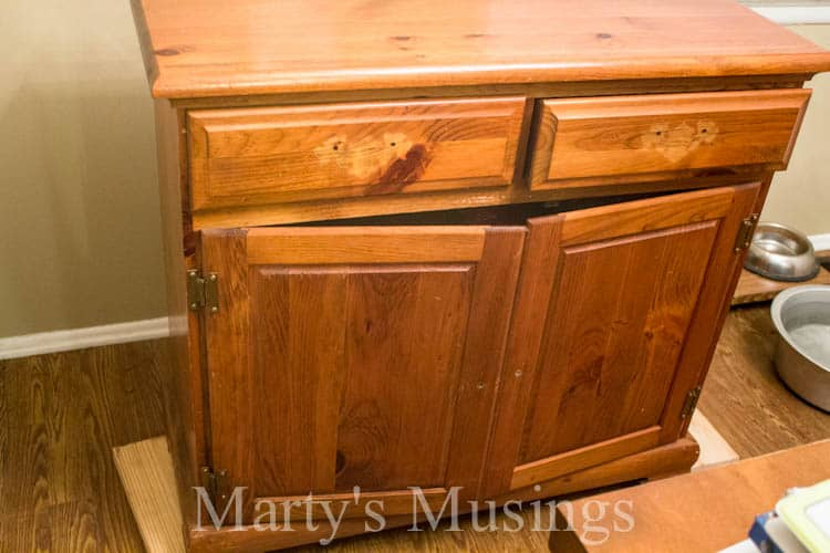 Chalk Painted Kitchen Buffet Cheap And Easy Makeover