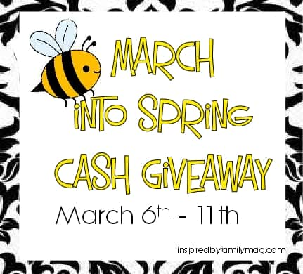 March into Spring $110 Cash Giveaway