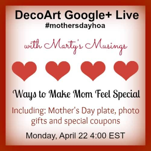 Mother's Day Hangouts Next Week