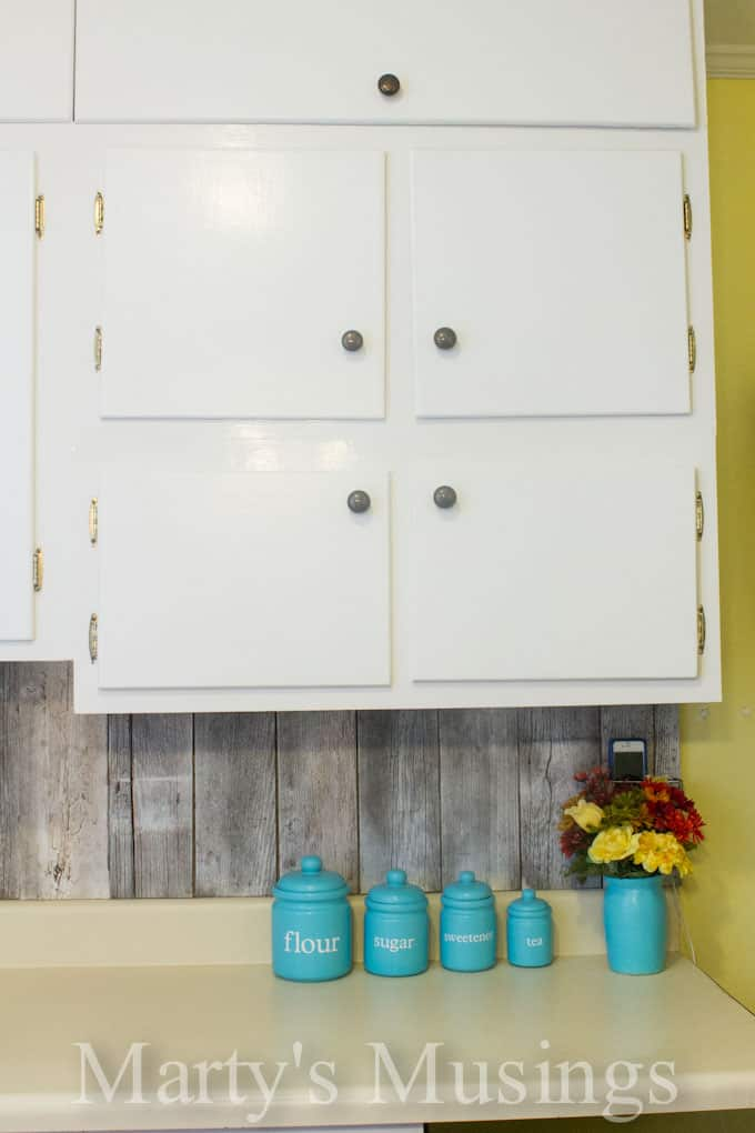 How to Paint Kitchen Cabinets from Marty's Musings