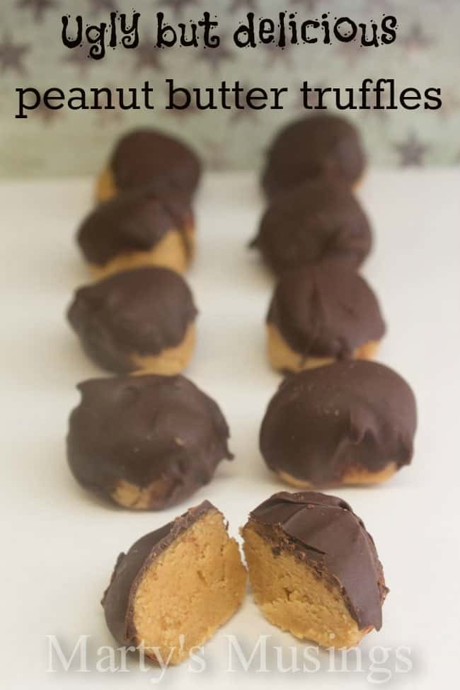Ugly but Delicious Peanut Butter Truffles from Marty's Musings