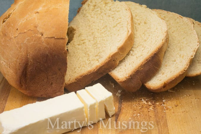 Sweet Milk White Bread from Marty's Musings