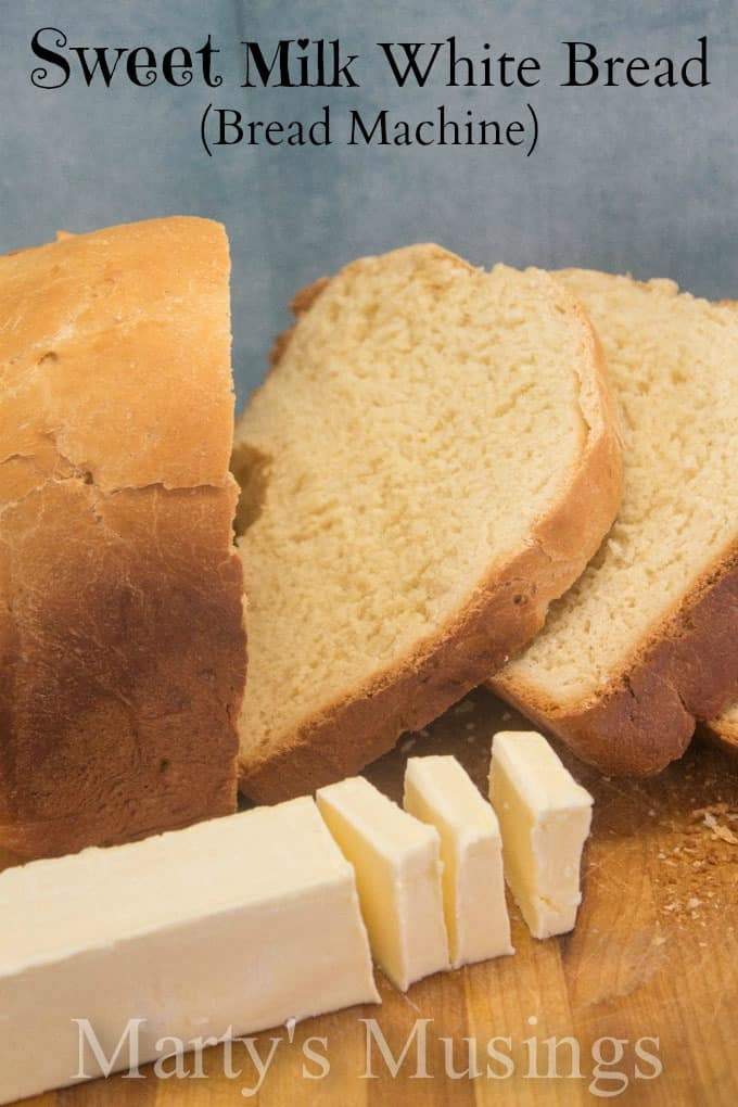 Even a bread making novice can make this delicious homemade sweet milk white bread recipe that turns out perfect every time by using a bread machine!