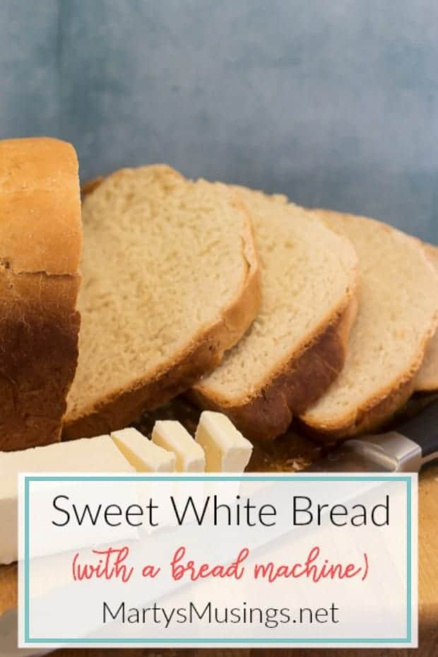 Sweet Milk White Bread with a bread machine