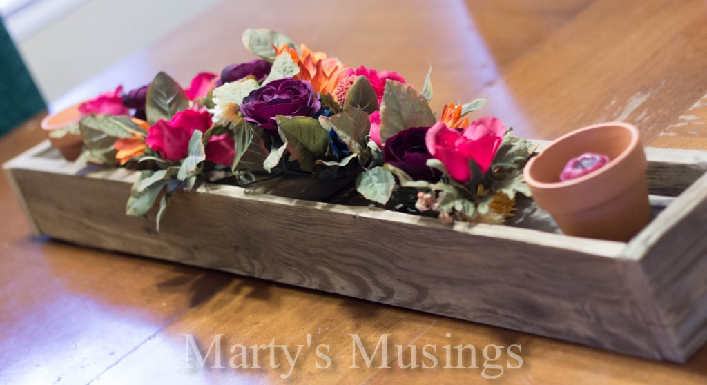 Rustic Box Centerpiece from Marty's Musings