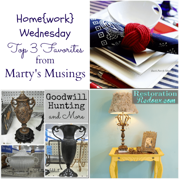 Home{work} Wednesday Favorites #2 from Marty's Musings
