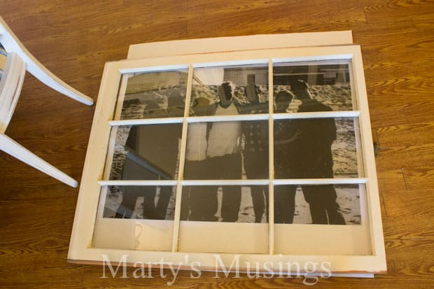 old window photo frame from martys musings - Window Picture Frame