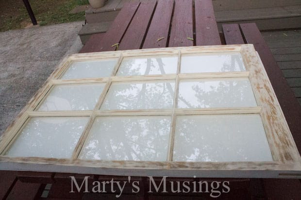 Old Window Photo Frame from Marty's Musings-3