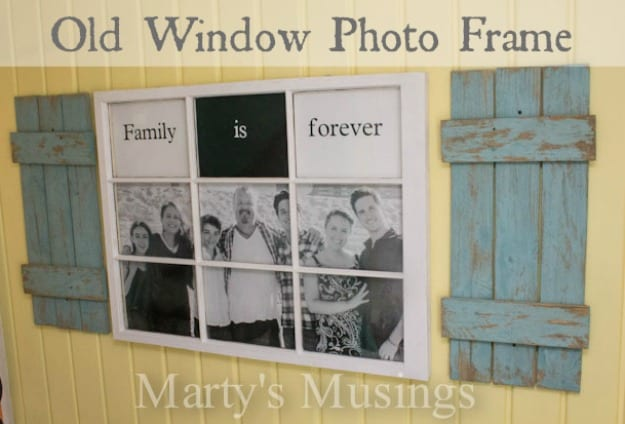 old window photo frame from martys musings