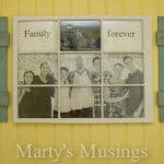 Photo Frame made of old window and fence boards from Marty's Musings-2