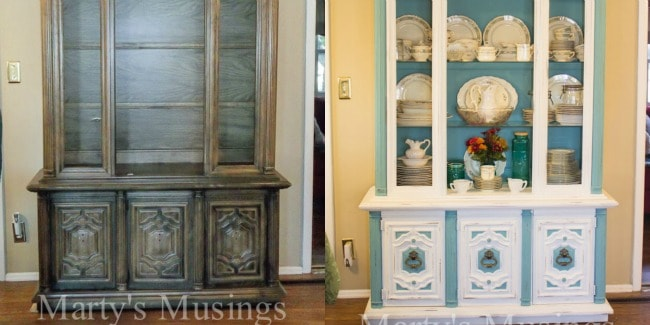 Annie Sloan Painted Kitchen Dresser