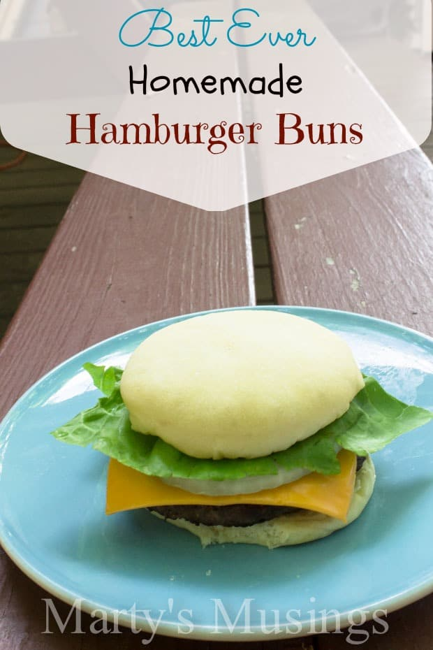 Best Ever Homemade Hamburger Buns from Marty's Musings