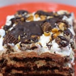 Chocolate Peanut Butter Cup Lasagna from Marty's Musings