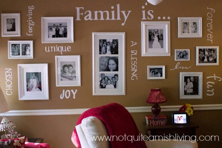 Family Gallery Wall from Marty's Musings