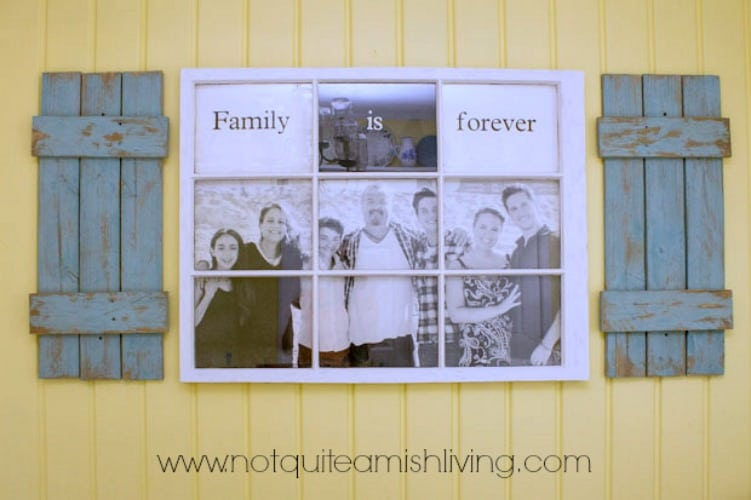 Family Photo Frame from Marty's Musings