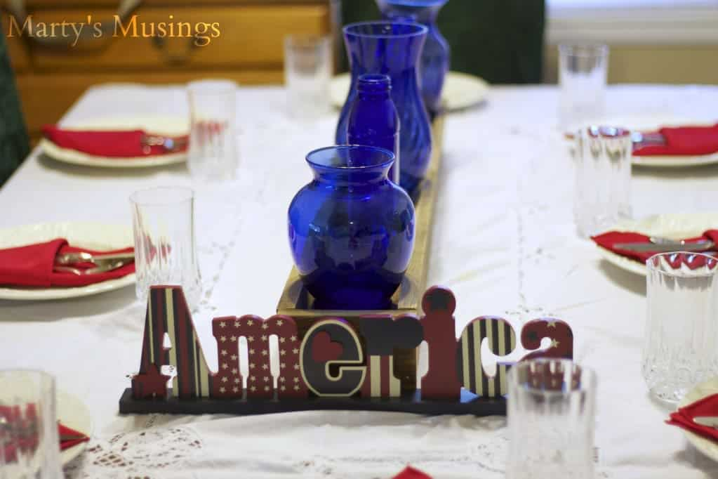 Fourth of July Tablescape from Marty's Musings