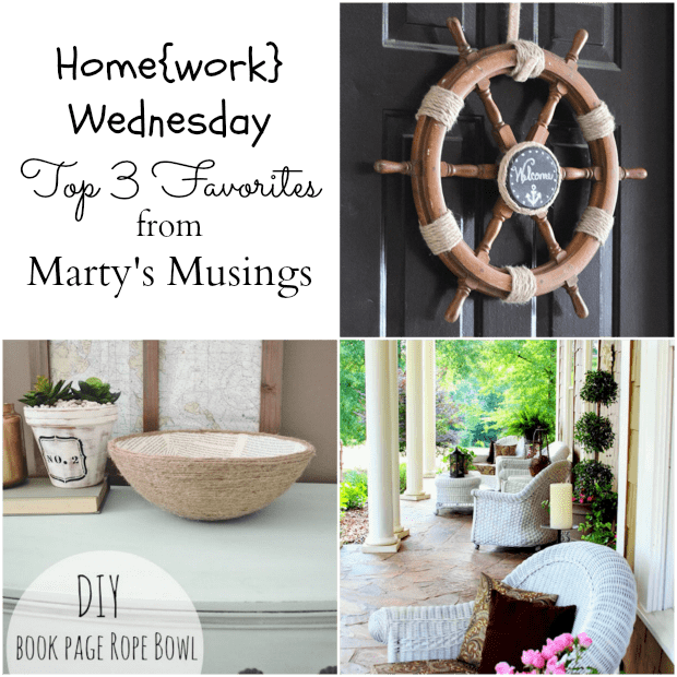 Home{work} Wednesday Link Party #4 Favorites from Marty's Musings