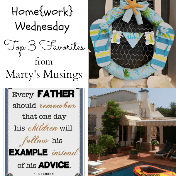 Home{work} Wednesday Link Party #5 Favorites from Marty's Musings