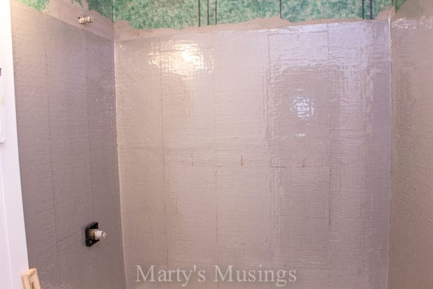 How to Tile the Shower Yourself from Marty's Musings