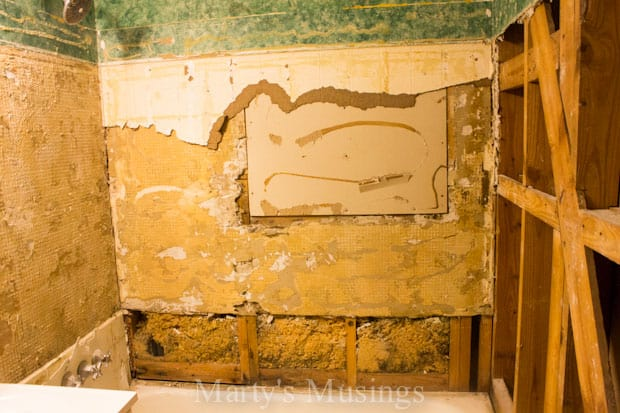How to Tile Your Shower from Marty's Musings-6