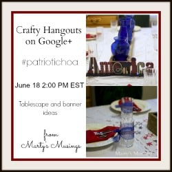 Patriotic Craft HOA: Tablescape and Banner ideas