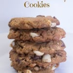 Peanut Butter Double Chocolate Chip Cookies-1