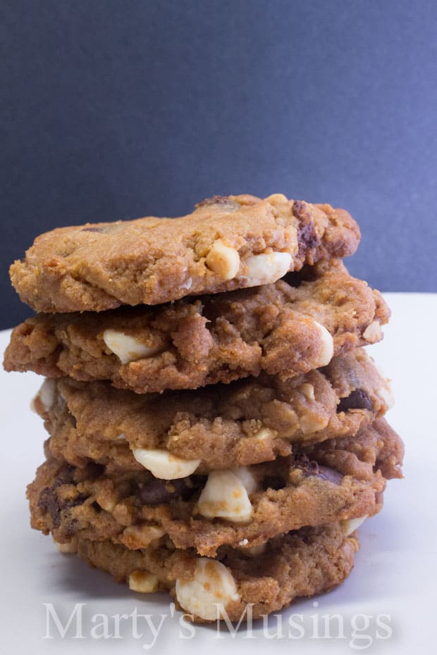 Peanut Butter Double Chocolate Chip Cookies from Marty's Musings