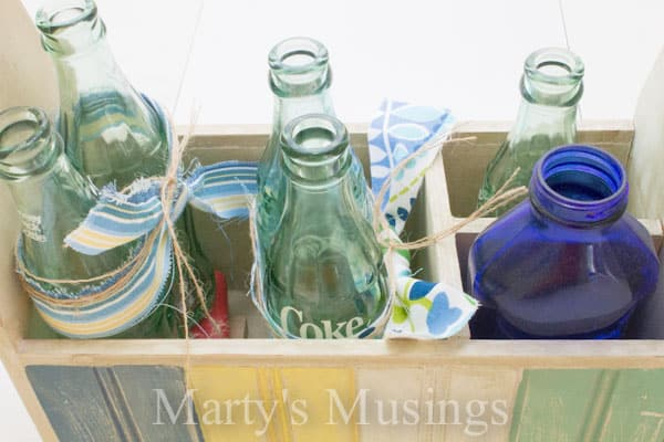 Rustic Summer Centerpiece from Marty's Musings