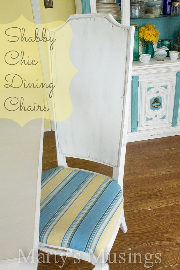Shabby Chic Dining Chairs from Marty's Musings