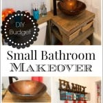 This small bathroom remodel features tons of creative DIY projects and ideas for stretching your money through secondhand bargains and repurposing.